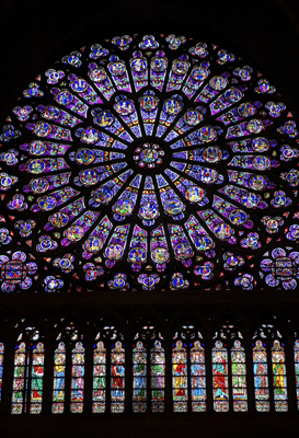 Notre Dame Glass Rose Window